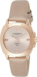 Akribos XXIV Women's Empire Analogue Display Quartz Watch with Textile Strap