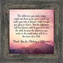 Crossroads Home Décor The Difference I Make Today, Teacher Appreciation Gift, Picture Frame for Parents, 10x10 8686BW