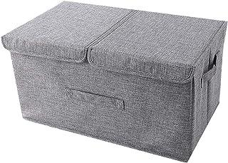 WPCASE Panier Tissu Cube De Rangement Tissu Petit Panier De Rangement Panier Rangement Tissu Grand Panier De Rangement Boi...