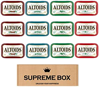 Altoids Classic Peppermint, Wintergreen, Spearmint, Cinnamon Mints 1.76-Ounce Variety Pack (12 Count)