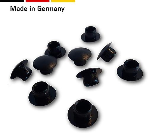 50 St Abdeckstopfen Kunststoff f/ür Bohrungen schwarz