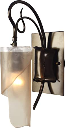 Soho 1 Light Vanity Statue Garden Finish With Recycled Brown Tint Ice Glass Shade Home Improvement