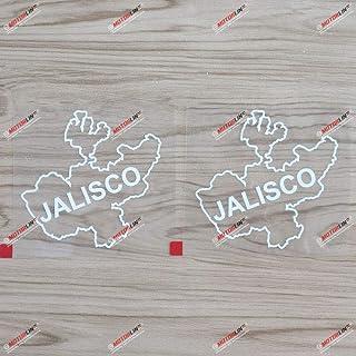 3S MOTORLINE Vinyl Aufkleber, 10,2 cm, Motiv Jalisco State of Mexico, 2 Stück