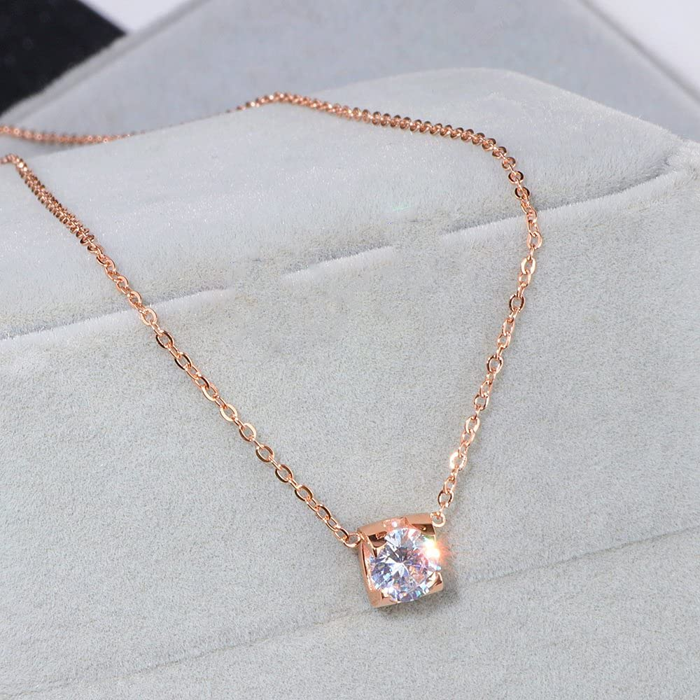 NMKIET Luxury Crystal Wedding Jewelry latest low-pricing 316L Gold-Color Sets Rose