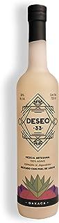 DESEO 33 Mezcal artesanal 100% Agave Espadín Abocado con 38 grados de alcohol -Endulzado orgánicamente con Miel de Agave.