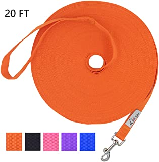 Hi Kiss Dog/Puppy Obedience Recall Training Agility Lead - 15ft 20ft 30ft 50ft 100ft Training Leash - Great for Training, Play, Camping, or Backyard