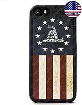 Case Lock LTD -USA Flag Don't Tread on Me Gadsden Flag Rubber Case Cover for iPhone 5 / 5S / SE