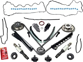 yjracing Timing Chain Kit W/Cam Phasers and VVT Valves Fit for 5.4L Triton 3V Ford F150 Lincoln