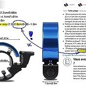 sonnette avertissement de s/écurit/é Cevikno Lot de 2 mini sonnettes de v/élo avec anneau de guidon sonnette de v/élo bruyante et claire