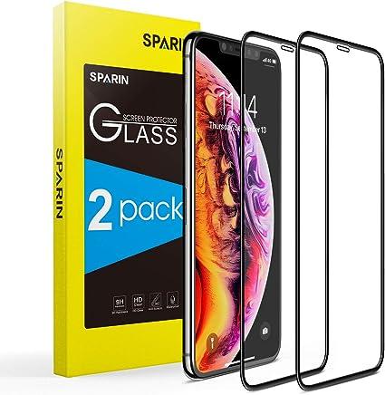SPARIN [2-Pack] Protector Pantalla iPhone XS/X, Cristal Templado iPhone XS/X, [Cristal + Resina] Vidrio Templado con [3D Borde Redondo] [9H Dureza] [Alta Definicion]