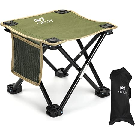 kbxstart Folding Camping Stool,Portable Folding Fishing Chair Lightweight Camping Stool with Carry Bag Holds Up to 200lBS for BBQ Camping Fishing Travel Hiking Garden Beach 10x9x10.6