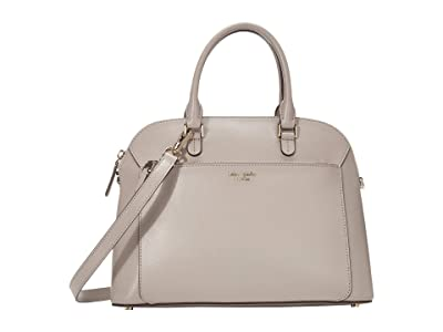 Kate Spade New York Louise Medium Dome Satchel (True Taupe) Bags