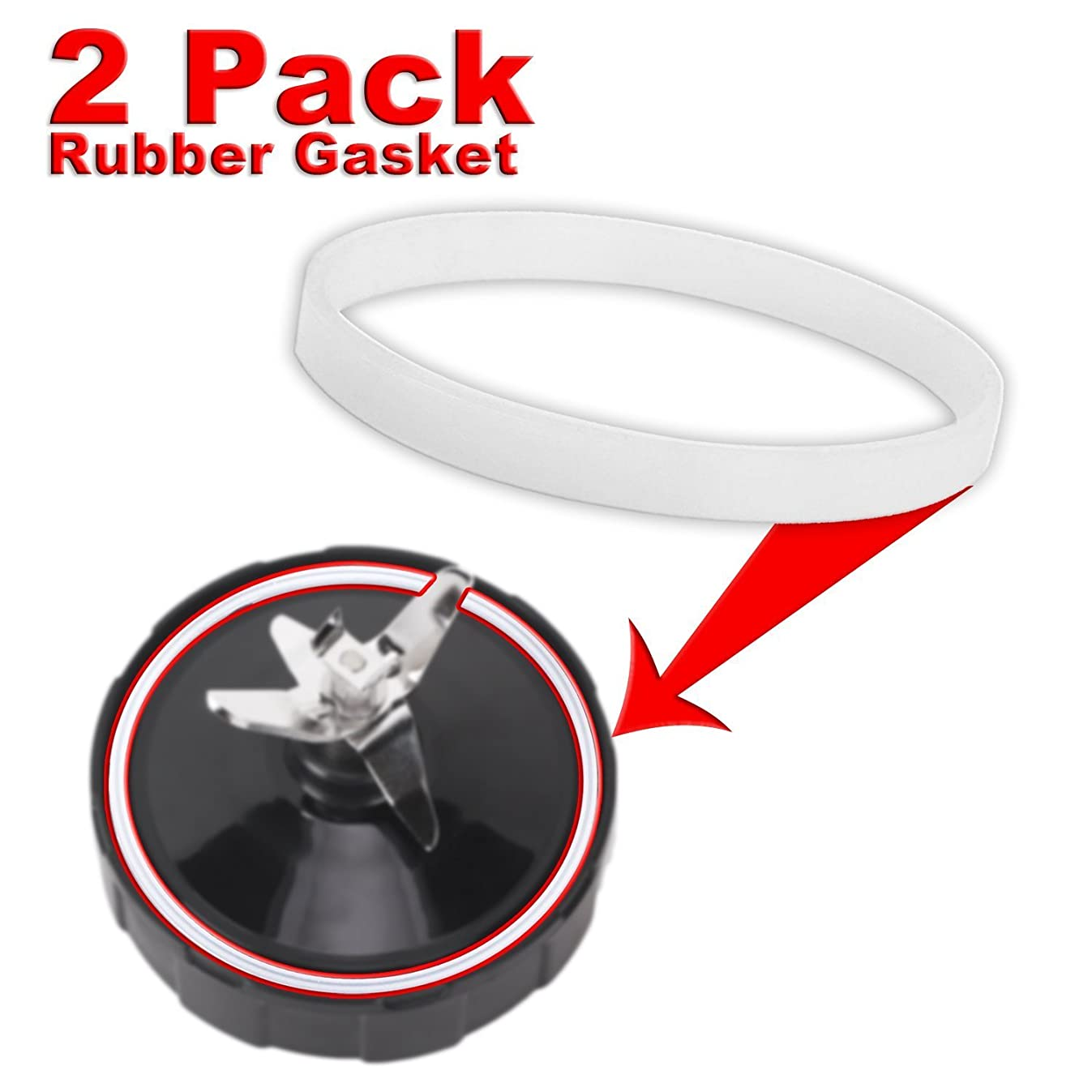 ELEFOCUS Replacement Rubber Gasket Parts for 900w 1000w Nutri Ninja Blender Auto-IQ – 2 Pack (2 Pack Rubber Gasket)