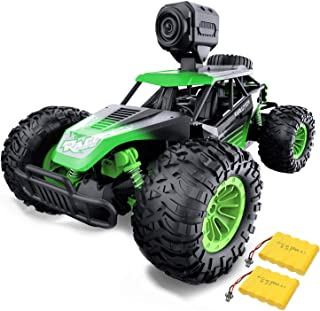 Gizmovine Remote Control Car with Camera, High Speed Racing Off-Road RC Cars with 2 Rechargeable Batteries, Waterproof RC ...