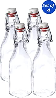 Bormioli Rocco Glass 8.5 Ounce Swing Top Bottle, Set of 4