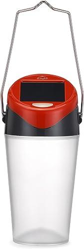 d.light S30 Family Solar Lantern with 0.3W in-built solar panel transparent textured safe for eyes | Solar lights for...