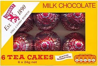 Tunnock's Tea Cakes Milk Chocolate 6 x 24g - Pack of 6