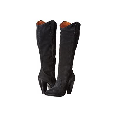 Frye Madeline Tall (Black Oiled Suede) Women