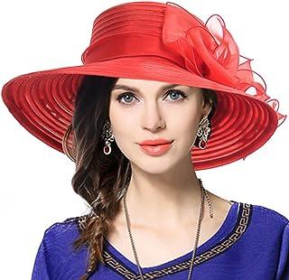 949a6939b72 VECRY Lady Derby Dress Church Cloche Hat Bow Bucket Wedding Bowler Hats