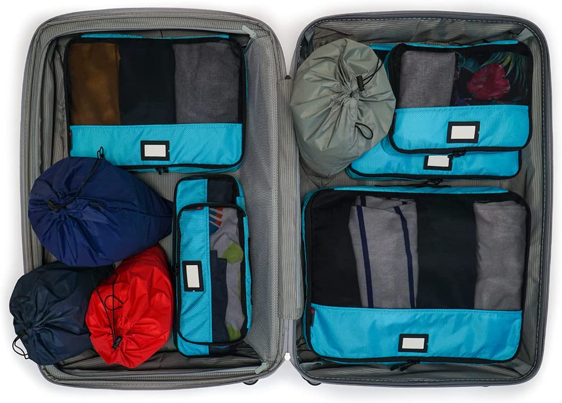 Zoomlite - 10 Piece 2021 new Set suitcase organizers Packing San Jose Mall Cubes with