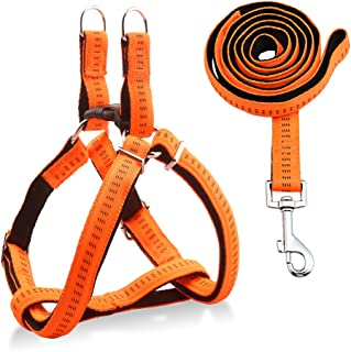 URPOWER Dog Harness Durable Dog Leash Heavy Duty & Adjustable Dog Collar Anti-Twist Dog Leash Harness for Small Medium & Large Dogs Perfect for Walking Running Training