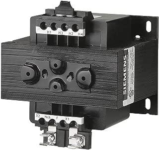 Siemens MT0250A Industrial Power Transformer, Domestic, 240 X 480, 230 X 460, 220 X 440 Primary Volts 50/60Hz, 120/115/110 Secondary Volts, 250VA Rating