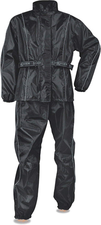 NexGen SH2215 Men's Lightweight Oxford Nylon Black Water Resistant Rain Suit