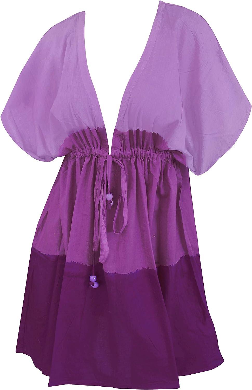 LA LEELA Women's Tie Dye Swimsuit Coverups Bathing Suit Beach Summer Dresses C
