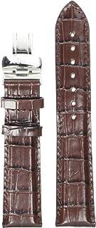 Tissot Leather Calfskin Brown Watch Strap, 20mm Width (Model: T600013382)
