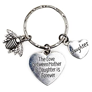 Its All About...You The Love Between Mother and Daughter is Forever Dragonfly Mom Keychain 5R