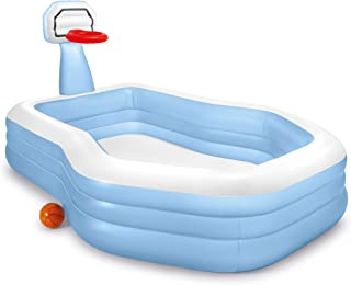 Intex Swim Center Shooting Hoops Family Pool, Blue/White