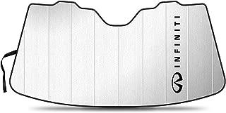 iPick Image Large Size Stand-Up Universal Fit Premium Folding Windshield Sunshade - Infiniti Logo for JX35 QX56 QX60 QX80