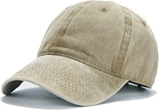 33a51e7c Edoneery Men Women Plain Cotton Adjustable Washed Twill Low Profile  Baseball Cap Hat(A1008)