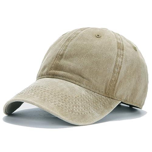 da58045ce333b Edoneery Men Women Plain Cotton Adjustable Washed Twill Low Profile Baseball  Cap Hat(A1008)