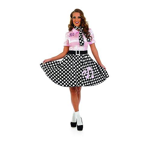 33e602b7d8c Fun Shack Adult Fancy Dress 50S Rock N Roll Girl Costume Small