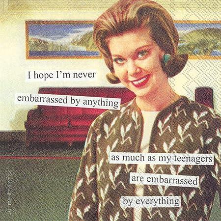 Boston International C783509 IHR Lot de 20 serviettes en papier 3 plis pour cocktail Inscription Start The Day with a Smile