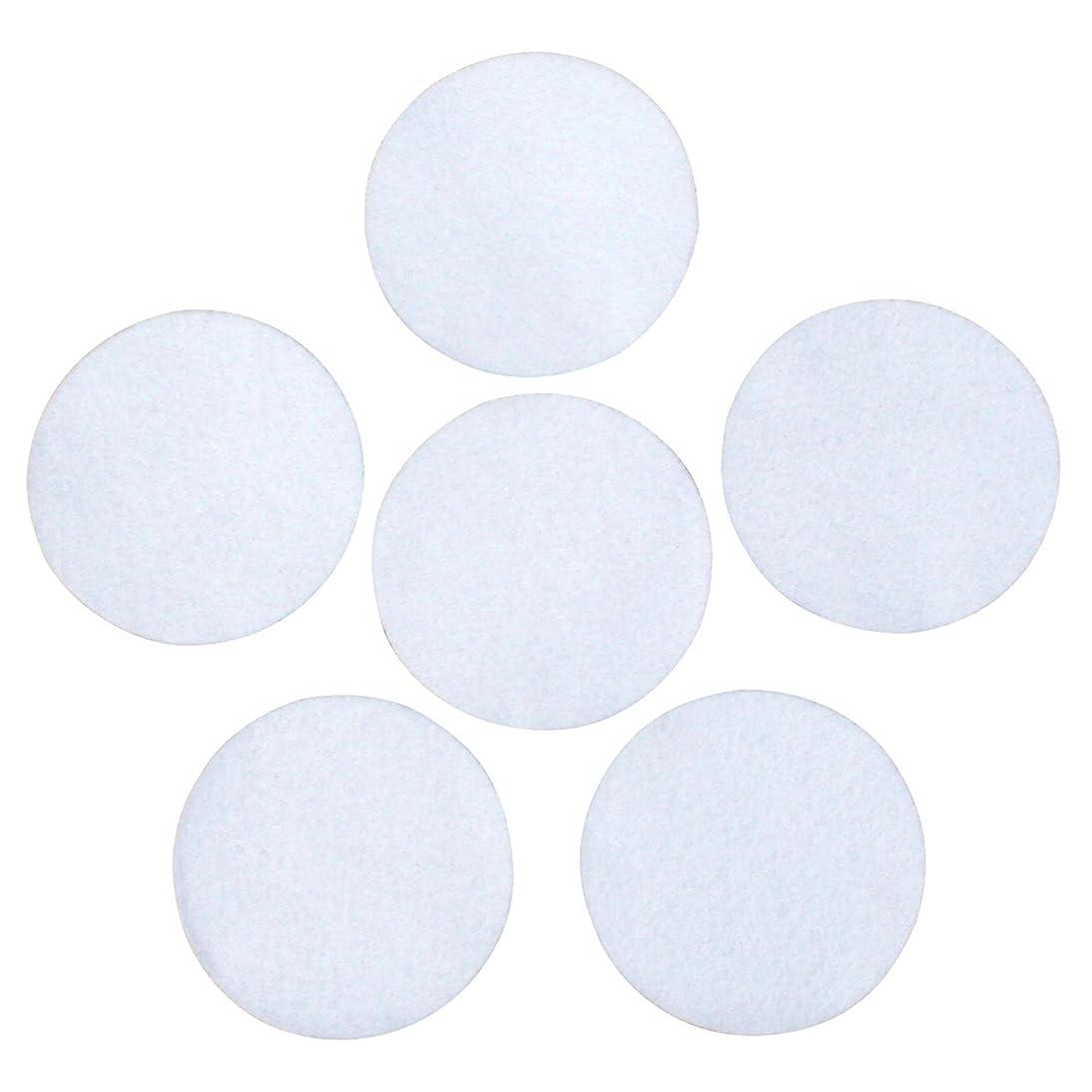 White Adhesive Felt Circles 2 inch, 3