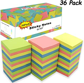 $23 » Sticky Notes 3x3, Self-Stick Notes, 36 Pads, 100 Sheets/Pad, Assorted Colors Stickies, Easy to Post Notes for Study, Works, Daily Life (36)