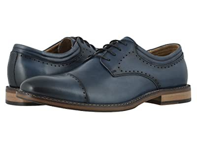 Stacy Adams Flemming Cap Toe Oxford (Indigo) Men