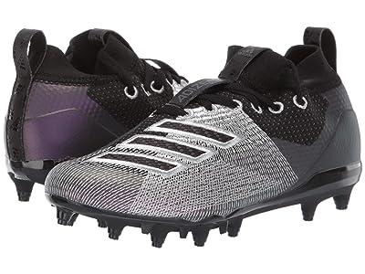 adidas Kids Adizero Burner Football (Little Kid/Big Kid) (Black/Night/Grey) Kids Shoes