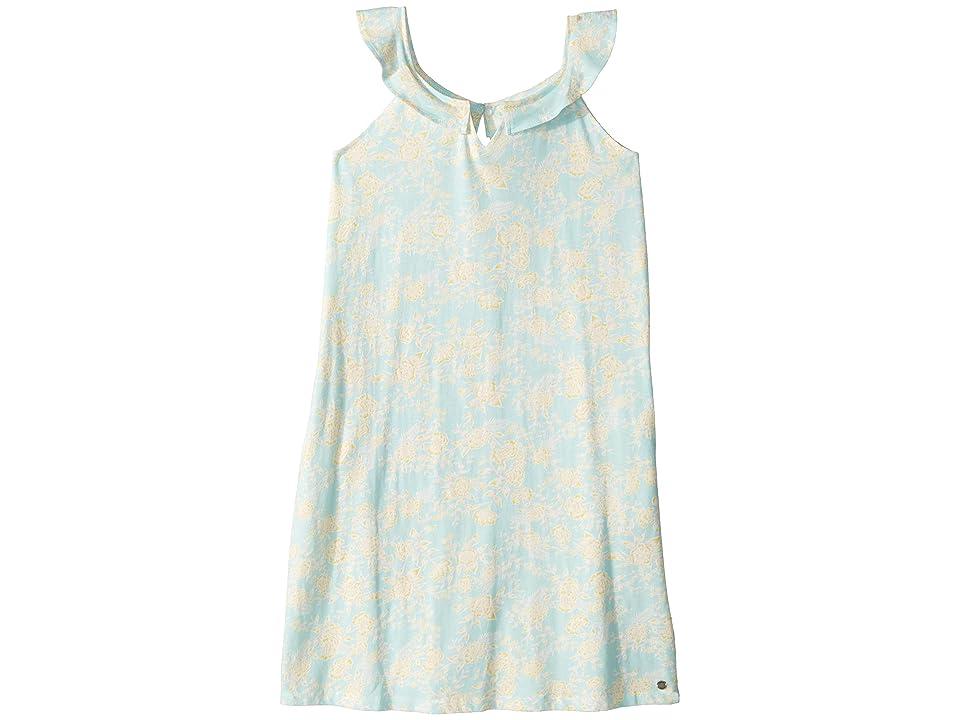 Roxy Kids Jungle Heart Dress (Big Kids) (Blue Light Sweet Eglantine) Girl