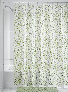 InterDesign Floral EVA Shower Curtain, 72-Inch by 72-Inch, Vine