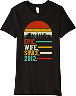 Womens Epic Wife Since 2012, 7th Wedding Anniversary Gift For Her Premium T-Shirt