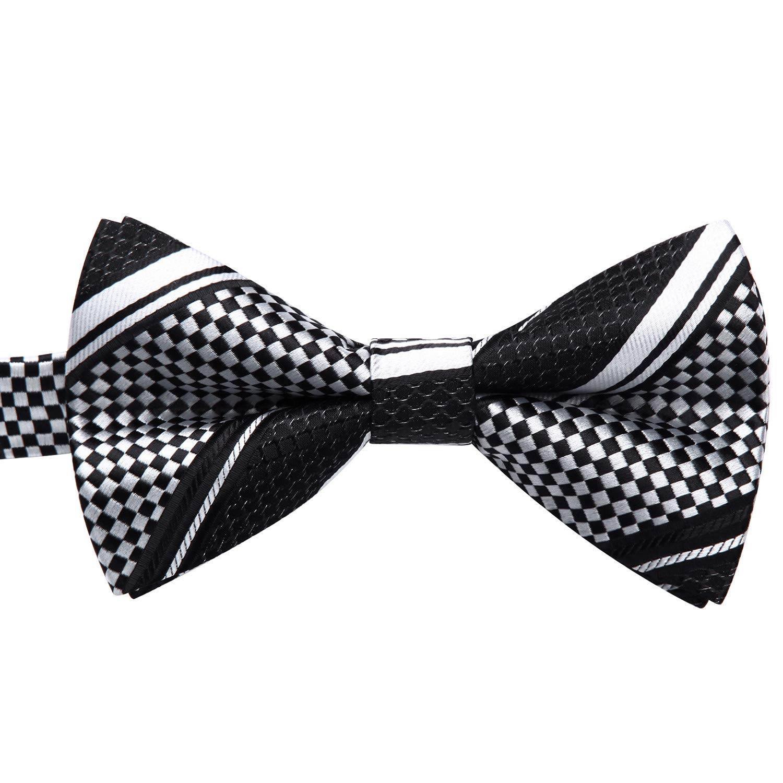 Enlision Pre-Tied Bow Tie Stripe Adjustable Formal Bowties Neck Tie for Men & Boys vityjd6147267