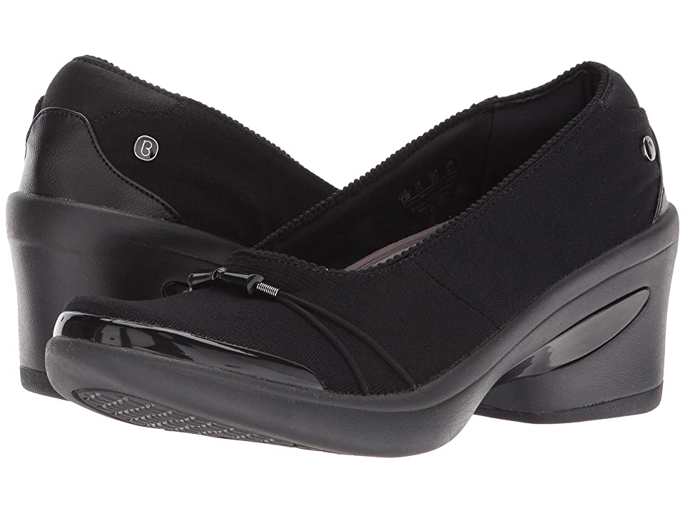 Bzees Electric (Black Mini Ribbed Knit Fabric) High Heels