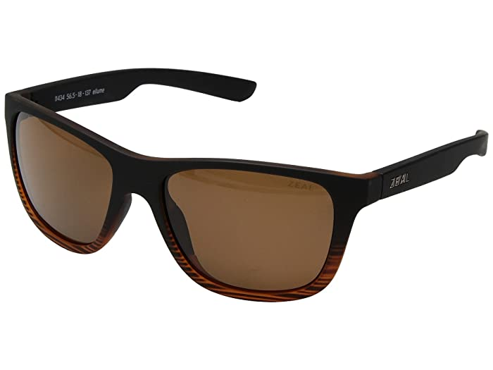 Zeal Optics  Radium (Torched Woodgrain with Polarized Copper Lens) Athletic Performance Sport Sunglasses