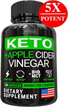 5X Keto Diet Pills + Apple Cider Vinegar with Mother- Best Weight Loss Keto BHB Supplement for Women and Men - Boost Energy & Focus, Support Metabolism + MCT Oil - Made in USA - 120 Capsules