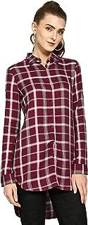 DJ&C By FBB Viscose Checkered Shirt
