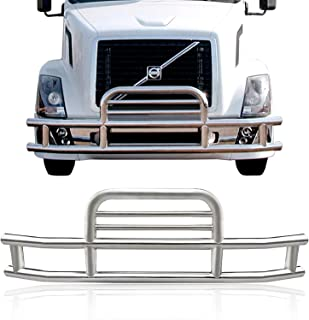 ORB for Volvo VNL 2018-2019 Grille Guard Bumper Guard Deer Guard Semi Truck with Brackets High Polished Stainless Steel