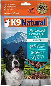 K9 Natural Grain-Free Freeze-Dried Dog Food Topper Hoki & Beef 3.5oz